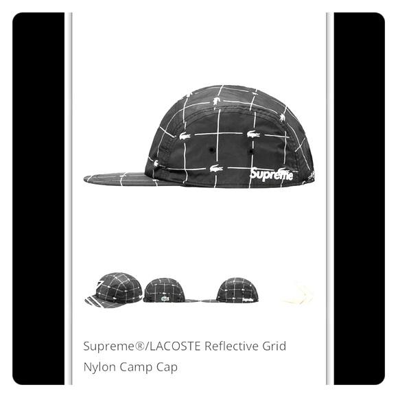 f4ed774b Supreme Accessories | Ss18 Lacoste Reflective Grid Nylon Camp | Poshmark